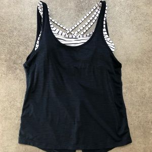 Athleta workout tank top with built in sports bra